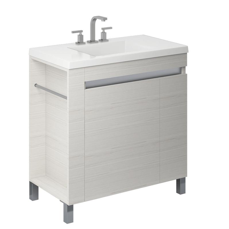 Vanitory 80 Cm Blanco Texturado Aqua NO incluye mesada Schneider