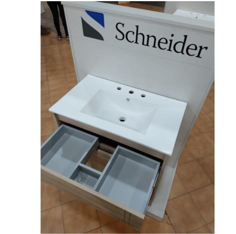 Vanitory 80 cm Blanco Texturado Nature  NO incluye mesada Schneider