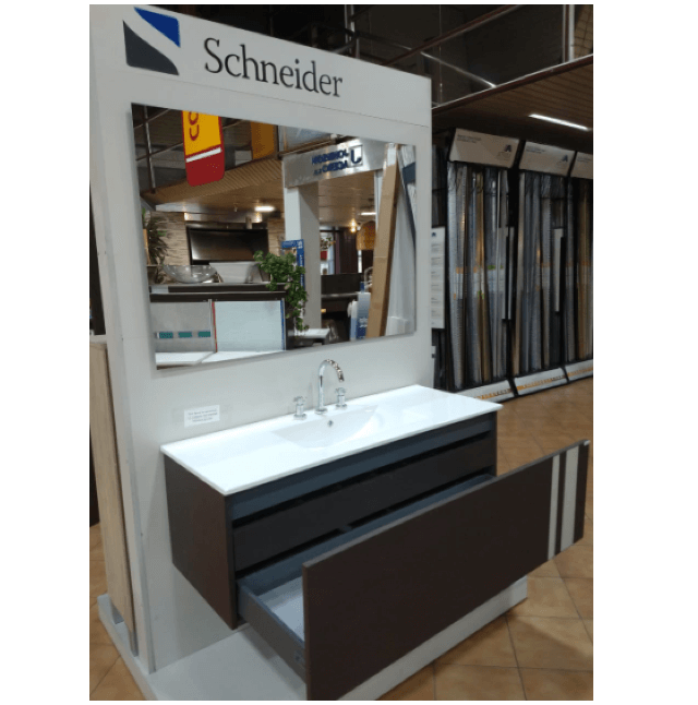 Vanitory Colgante 1.20 Metro Wengue City Pvc NO incluye mesada Schneider