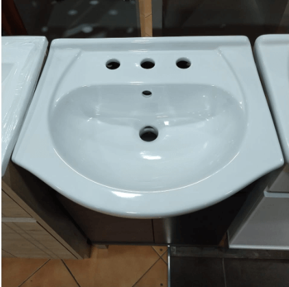 Vanitory 50Cm Wengue Con Mesada Loza Water Van Rimini De Pie