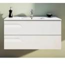 Vanitory Colgante 100 Cm Blanco Rivo NO incluye mesada Schneider