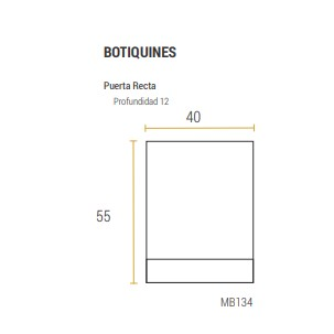 Botiquin Schneider Eco Bm 134  Wengue