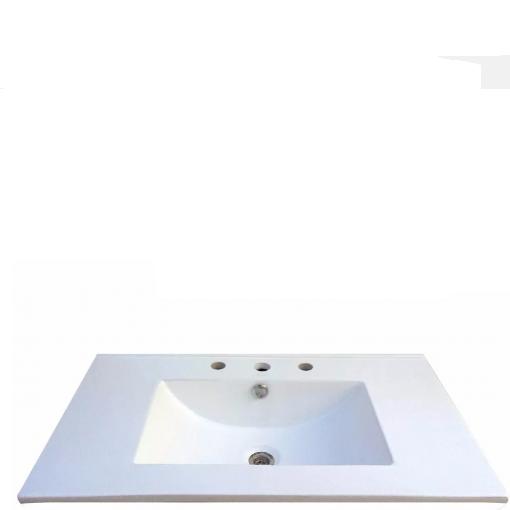 Mesada 50 cm Losa 3 Agujeros Bacha Para Baño Schneider ML50SA3