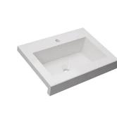 Mesada 50 cm Marmolina Monocomando Bacha Para baño Terra Schneider MT50M