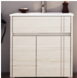Vanitory 80 cm Blanco Texturado Nature  Schneider. Incluye Mesada Losa 3 agujeros