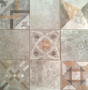 Ceramico Patio Mix Gris 45,3X45,3 Cj.2,05 M2