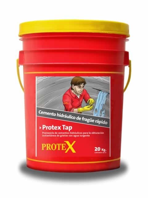 Mortero Protex Tap Cemento hidráulico de frague ultrarrapido