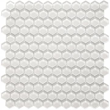 Malla Misiones Hexa Vetro Bianco V0301 30X30