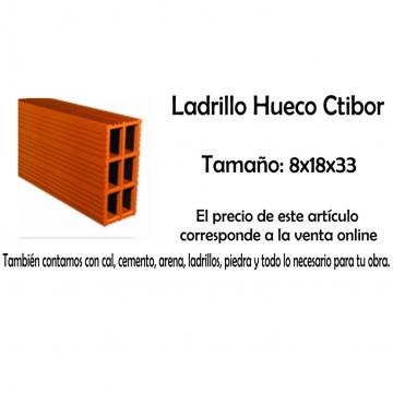 Ladrillo Hueco Ctibor X Unidad 8 X 18 X 33