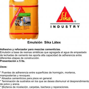 Sika Latex 5 Lt  Emulsiones Ligantes