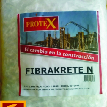 Fibra Para Evitar Fisuras Prokrete Fibrakrete N X 0,600 Kg