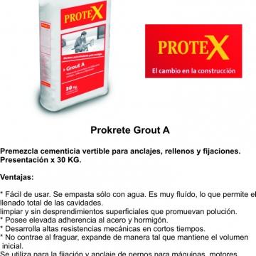 Mortero Prokrete Grout A X 30 Kg.