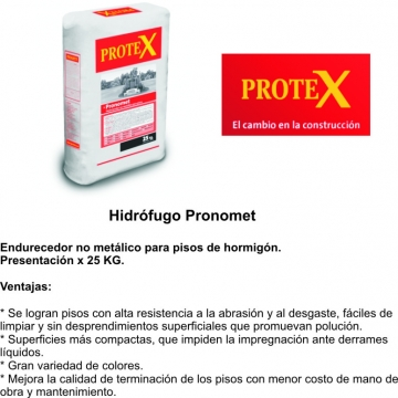 Pronomet X 25 Kgs. Natural Endurecedor No Metalico Prokrete