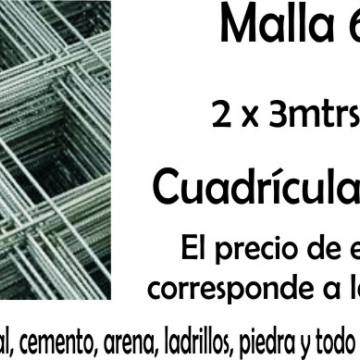Malla De Hierro 15 X 15 2 X 3 Mts 6 Mm Q 188 Mini