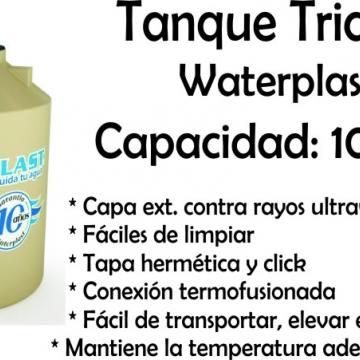 Tanque De Agua Tricapa 1000 Lts Waterplast
