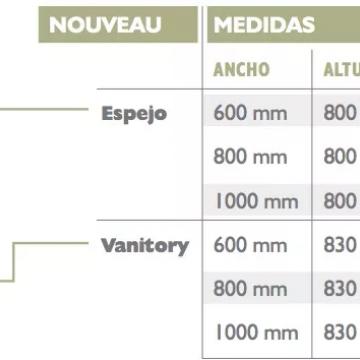Vanitory Water Van Nouveau 100 Cm Con Mesada Loza Tabaco