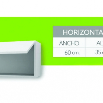 Alacena 1 Puerta Elevable Itar Edge 60X35X31 Blanco