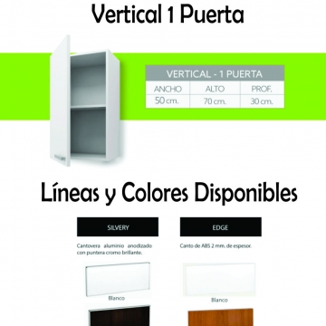 Alacena Itar Edge 0,50 Blanco