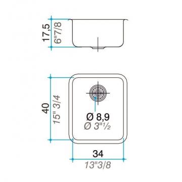 Pileta Simple Johnson Q40