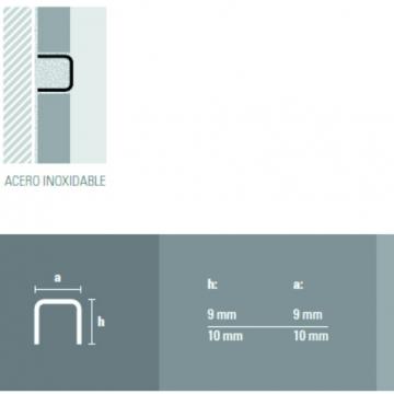 Varilla Aluminio Atrim 1431 Cuadr 9 X 9 Cromo Brillante