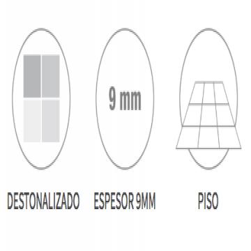Porcelanato Esmaltado San Lorenzo Rock Ceniza 58X58 Cj.1,35