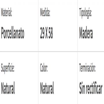 Porcelanato Esmaltado San Lorenzo Tavolo Natural 28X57 Cj.0,95 Mt