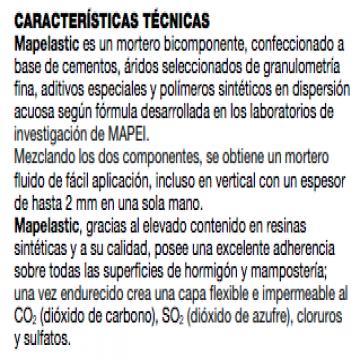 Mortero Mapei Mapelastic Bolsa 24 Kgs Y Bidon 8 Kgs