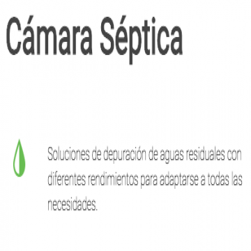 Camara Septica 4 A 6 Personas Waterplast