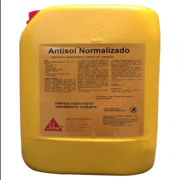 Sika Antisol Normalizador X 20 Lts. Curado Del Hormigon