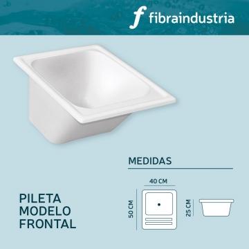 Pileta Fibraindustria Marmol Sintetico 40 X 50 Frontal