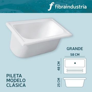 Pileta Fibraindustria Marmol Sintetico 0,58 X 0,48 Grande