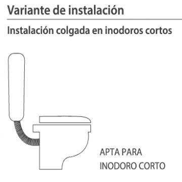 Mochila Para Baño Ideal Ultra Chata Con Descarga Dual 92000