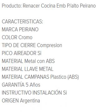Juego Cocina Pared Peirano Renacer 55-002