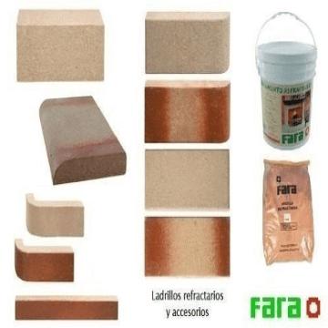 Ladrillo Refractario Fara Canto Redondo Lateral 229X114X20