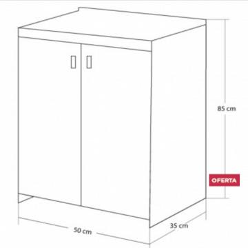 Vanitory 50Cm Con Mesada incluye mesada Schneider Eco Mel Wengue
