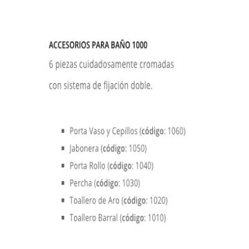Set 6 Piezas Peirano Linea 1000 Mod 1006