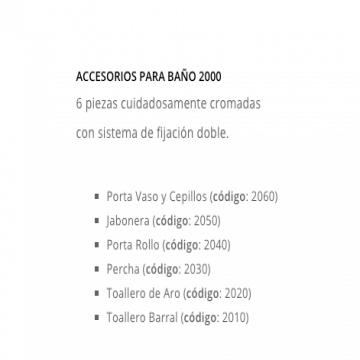 Set 6 Piezas Peirano Linea 2000 Mod 2006