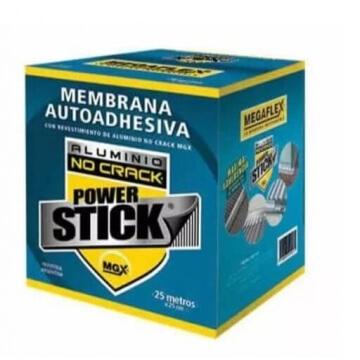 Membrana Asfaltica Megaflex Power Stick 0.25X1Mt Rojo