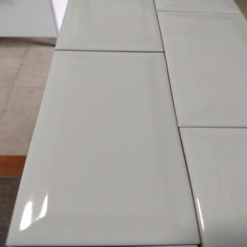Brick Ceramico Biselado 7.5X15 X Cj.1.37M2 Blanco Bizantina