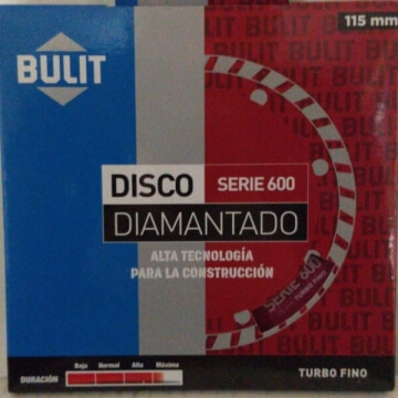 Disco Diamantado Erpa S 600 115 Mm Turbo Fino