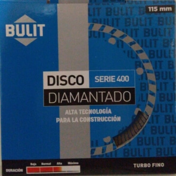 Disco Diamantado Erpa S 400 115 Mm Turbo Fino