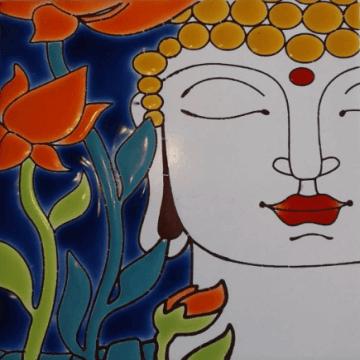 Azulejo Decorado Buda 15x15cm Pared/piso