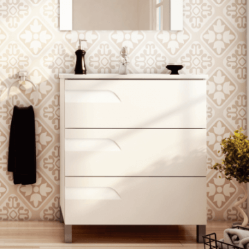 Vanitory Rivo 60 Blanco Mueble Para Baño Schneider