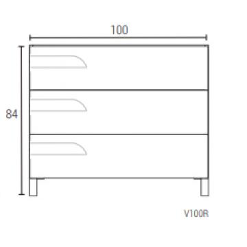 Vanitory Rivo 1 Metro Blanco Mueble Para Baño Schneider