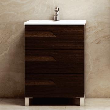 Vanitory Rivo 60 Wengue Mueble Para Baño Schneider