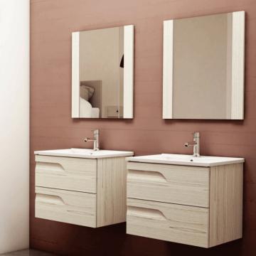 Vanitory Rivo 80 Rovere Mueble Para Baño Schneider