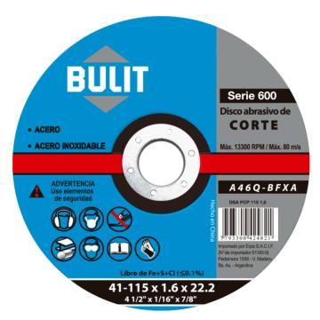 Disco Abrasivo Erpa Corte 115X1.6X22.2