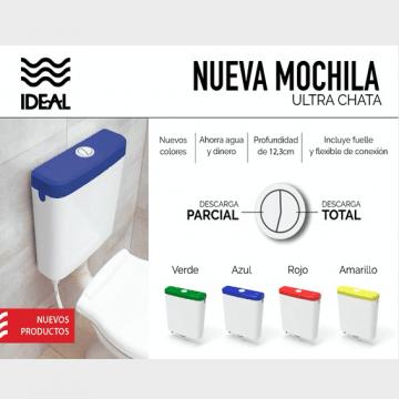 Mochila Para Baño Ideal Tapa Color Verde Ultra Chata 92020