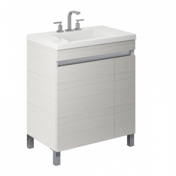 Vanitory 70 Cm Blanco Texturado Aqua NO incluye mesada Schneider