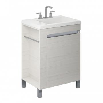 Vanitory 60 Cm Blanco Texturado Aqua NO incluye mesada Schneider